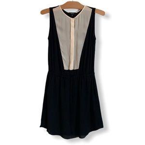 ARITZIA 100% SILK Black & Off-White Dress BABATON